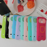 Plastic i-glow cases - Multicolor i Glow iglow Phone Case Hybrid Luminous Noctilucent Ring Stand glow Plastic tpu Cover Shell For galaxy S5 S S4 iphone s