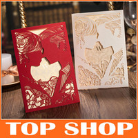 Wholesale Custom Wedding Invitations MM Hollow Bride and Groom Invitation Card HQ1010