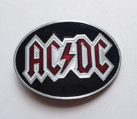 acdc belt - ACDC belt buckle with pewter finish SW B1088 suitable for cm wideth belt with continous stock