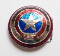 Wholesale New Western Superhero Captain America Shield Classic Men s Metal Belt Buckle