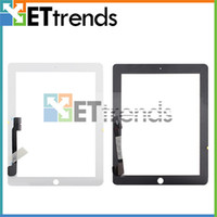 Wholesale Digitizer Touch Screen Pannel for the new iPad Black White Glass touch screen without home button Repair Part Replacement AA0011