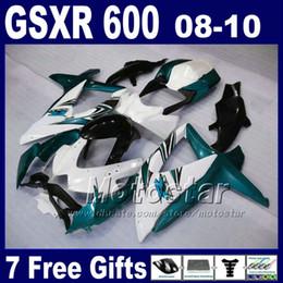 Low price Fairing kit for SUZUKI 08 09 10 GSX-R 600 750 2008 2009 2010 GSX-R750 GSX-R600 white blue black fairings