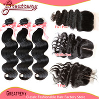 1 Piece Free Part or Middle Part or 3 Way Part Lace Closure ...