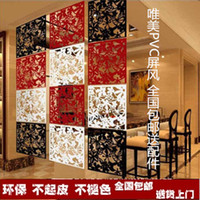 Wholesale Hanging screen wall stickers grilles film pvc carved screens l thestresses partition entranceway door