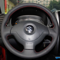 Wholesale Steering Wheel Cover For Suzuki Jimny XuJi Car Special Hand stitched Black Genuine Leather Wheels Covers