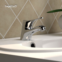 other other Brass Sagetta copper hot and cold basin faucet personalized bathroom basin water pipe