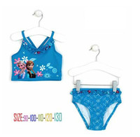 Women Swimdress Print Pre-Order Frozen Swimsuit with split skirt for girls UV protection swimwear children bathing suits kids 5 pairs lot