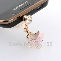 Earphone Jack Plugs 3.5mm Health Metal Alloy Free Shipping,100% AAA Quality,Health Metal Alloy,Dust Plug Cell Phone Accessories,Mini Pink Car Phone Jewelry,Min Order $10