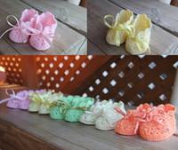 Wholesale 9 off new arrivals Newborn Organic Crochet Baby Booties Drop shipping hot sale Shoes sale shoes infant Shoes pair