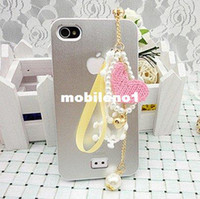 Earphone Jack Plugs 3.5mm iPhones/HTC/SUMSANG Min.order is $10(Mix order) Free Shipping Cell Phone Pendant Accessories Phone Jewelry Pearl Heart Dust Plug