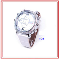 Wholesale H300 Lady Cute Watch spy Camera DVR GB Waterproof watch spy video recorder H video Hidden P Recorder
