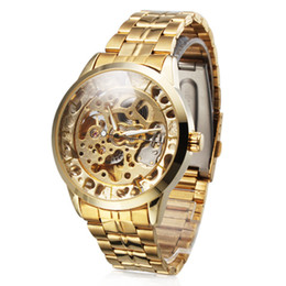 New Gold Skeleton Stainless Steel Strap Mens Automatic Mechanical Wrist Watch Have one to sell? Sell it yourself Details about Mens