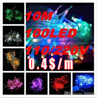 30P DHL Free shipping Christmas crazy selling 10M 100 LED st...