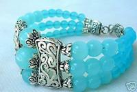 jade bangle - Pretty Tibet Silver Blue Jade Cuff Bangle Bracelet pc