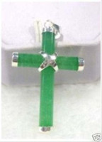 beautiful cross necklaces - A beautiful green jade cross pendant necklace pc
