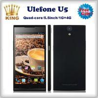 Ulefone 5.5 Android 2014 free ship New Arrival Ulefone U5 MTK6582 Quad Core 1GB 4GB Mobile Phone IPS Screen 5.5 Inch 3G Unlocked Smartphone
