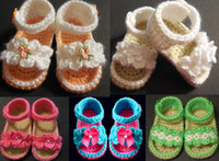Wholesale 9 off new arrivals Handmade Crochet Baby Girl Sandals DROP SHIPPING hot sale infant shoes shoes shoes sale pairs