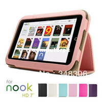 Folding Folio Case 7'' For Toshiba Leather Case Cover stylus for Barnes & Noble Nook HD 7 inch Tablet Free Shipping Dropshipping Multi-color+ 2 Years warranty