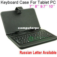 7'' android tablet options - 7 Keyboard Case For Tablet PC Micro USB Keyboard Case For Android Tablet pc Russian English for option