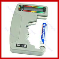 17381   Free Shipping Digital Battery Tester Checker LED Monitor C D 1.5V 9V