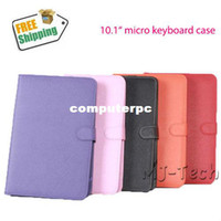 "7'' For Apple For Ipad 2/3 Free Shipping Good Quality Multi-Color 10.1"" Micro Leather Keyboard Case For PIPO M9 Cube U30GT Ainol hero and so on"
