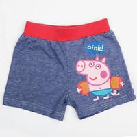 Boy Swim Trunks 2-7 Y 2-7 Y 5 Pcs Lot 2014 New Fashion Summer Boy Baby Child Kids Cartoon George Peppa Pig Striped Cotton Swim Shorts Trunks H0140510