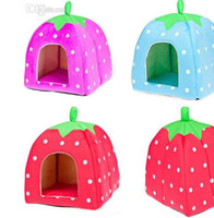 Wholesale 2014 Kind of pet products Pet Waterloo strawberry modelling cat dog house cm pet house