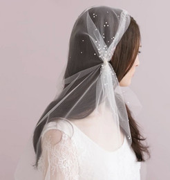 Wholesale New Style Ivory Bride hair band Short veil With Crystal