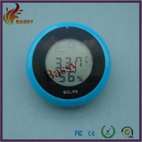 Household Temperature Sensor yes Magnet sucker weather station round thermometer hygrometer temperature humidity