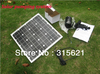 solar water pump system - Solar Pumping System Watering Kits With Brushless DC Pump W Monocrystal Solar panel m Cable for Home Garden Irrigation