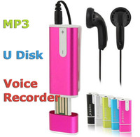 Wholesale New Stylish IN Spy GB G USB flash memory stick disk digital voice audio recorder REC MP3 player