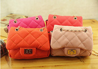 Wholesale New Arrive Children Bags Girls Chain Lingge Messenger Bag decompression bag Kids handbag