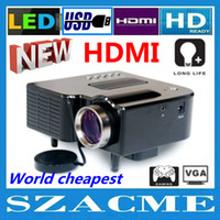 Wholesale New Mini Lowest price LED Projector Game Multimedia Portable projector with AV VGA SD USB HDMI Remote Control home video game proyector