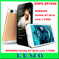 Zopo 5.0 Android DHL Shipping ZOPO ZP1000 MTK6592 Octa core cell phones 5.0INCH Ultrathin Smartphone IPS HD Srceen 1.7GHz CPU 1G RAM 16G ROM 14.0MP 3G OTG