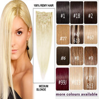on body weight - Unit Weight g Totel g A Grade Clip In On Human Hair Extensions Clipper Brazilian Price Hair Mix Color Clips Hair