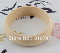 Wood Yes Europe Free shipping wholesale Wid24x ID68x OD84mm natural wood wooden bangles wide bracelet jewelry DIY accessories 3pcs 017027007004