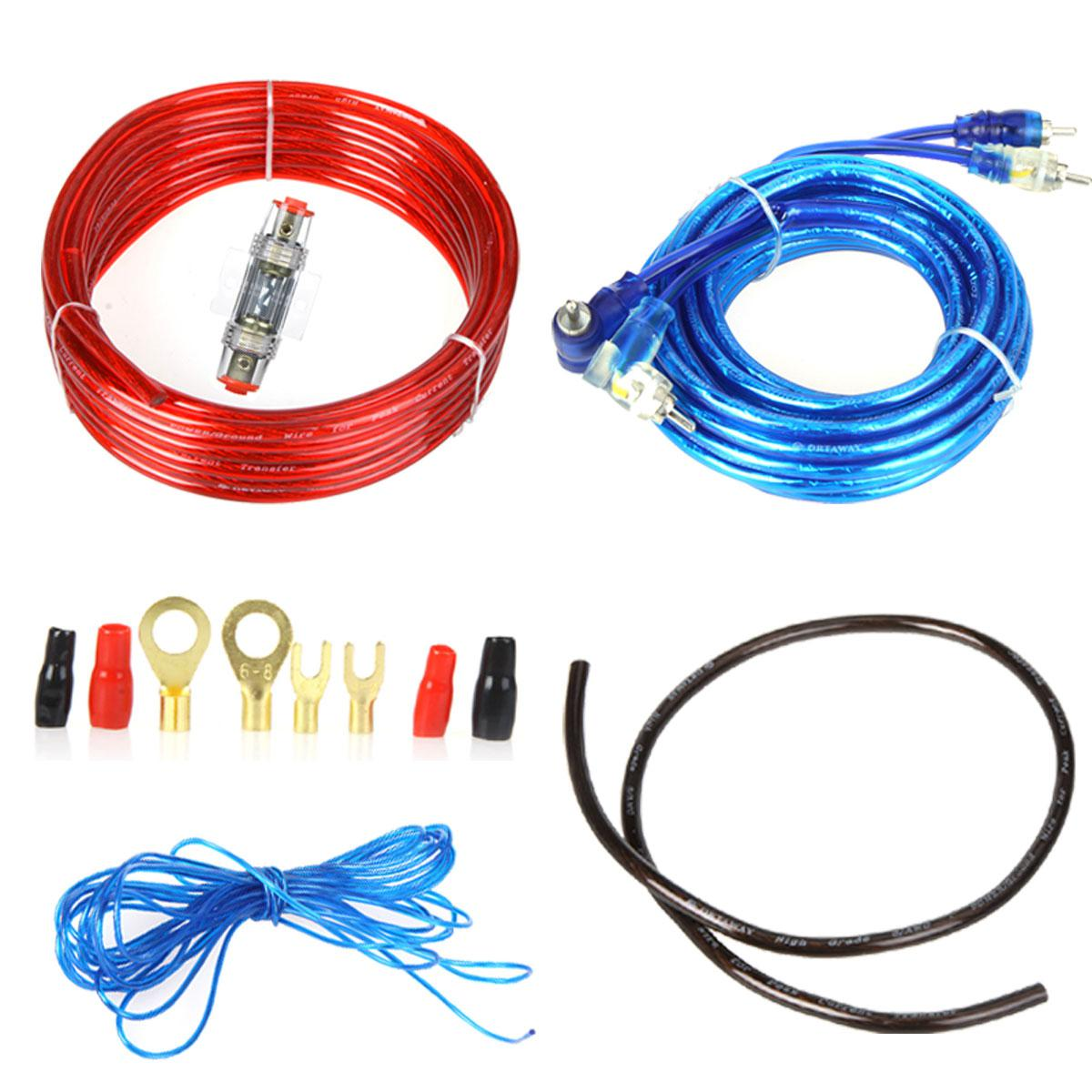 best quality 1500w car audio wire wiring amplifier subwoofer best quality 1500w car audio wire wiring amplifier subwoofer speaker installation kit 8ga power cable 60 amp fuse holder at cheap price online other