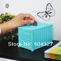 Wholesale Piece Shipping Container Piggy Bank Novelty Bank of Container Saving Box