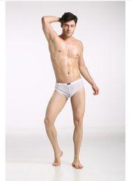 Wholesale shino men s fashion sexy lingerie underwear gauze transparent U bag breathable comfortable briefs aro pants