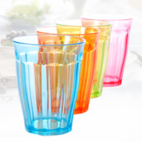 Wholesale At home wash cup candy color thickening transparent plastic beer cup glass d923