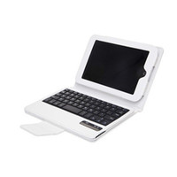 7'' For ASUS For Ipad 2/3 Removeable Wireless Bluetooth Keyboard PU Leather Case Cover For Barnes Noble Nook HD 7 White