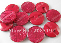 Quilt Accessories Buttons China (Mainland) NB067 Red overcoat buttons resin material Dia 22mm 50pcs lot women's clothes decorated buttons