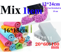 Wholesale Mix Item Color pieces Set Magic Cleaning Sponge Cleaner Melamine Eraser For Kitchen Cleaning Cloth Shoes Mop Cover