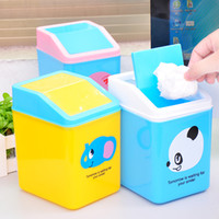 Wholesale Mini Square Desktop Rubbish Bucket Fashion Home Trash Garbage Can Waste Bins KC C429