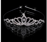 Wholesale Crown tiaras wedding party high quality crystal silver tiara crown