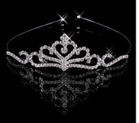 Wholesale Charming Diamond Rhinestone Hair Band Wedding Crown Tiara Bridal Prom Jewelry