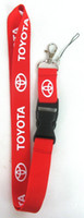 Wholesale Hot sale red Toyota Car Lanyard for MP3 cell phone key Neck Strap Lanyard