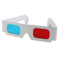 Wholesale EMS Red And Blue Paper D Glasses Paper Frame Resin Lens D Paper Glasses