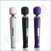 Wholesale White amp Purple amp Black Modes Magic Wand Massager Ultra Powerful Body Massager Clitoral Vibrator