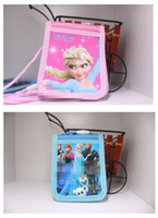 Wholesale New Arrival Children Cutting Ferrule Frozen Elsa Olaf Cartoon Renovate cm ID Holder With The Rope Practical Kids Childs Thing G0232